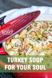 TURKEY SOUP, perfect for leftover turkey