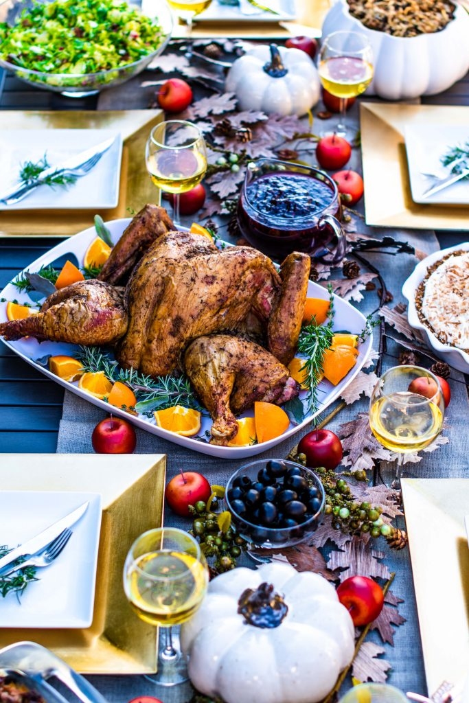 The Perfect Thanksgiving Day Turkey with crispy skin and juicy meat!