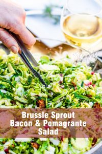 Brussel Sprout & Bacon Salad! The perfect healthy holiday salad!