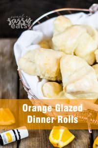 Orange Glazed Dinner Rolls