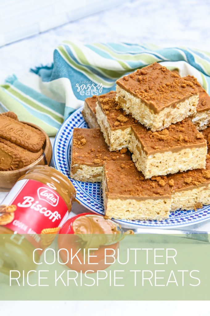 Cookie Butter & Rice Krispie Treats? A winning treat everytime!