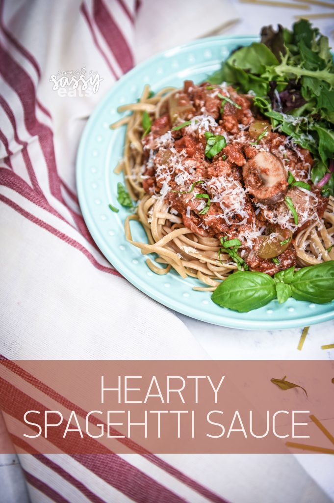 A delicious and hearty spaghetti that the whole family will love