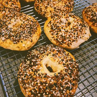 Everything Sourdough Bagels fresh from your home oven