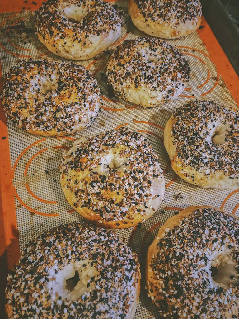 Fresh bagels from your home oven